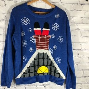 Ugly Christmas Holiday Party Sweater Womens Size L